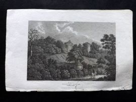 Beauties of England & Wales C1810 Antique Print. Chartley Castle, Staffordshire